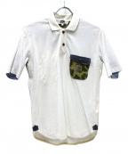 eYe COMME des GARCONS JUNYAWATANABE MAN(アイコムデギャルソンジュンヤワタナベマン)の古着「ポロシャツ」 ホワイト