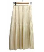 PLEATS PLEASE(プリーツプリーズ)の古着「プリーツスカート」|アイボリー
