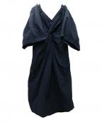 CASA FLINE(カーサフライン)の古着「バックツイストシャツドレス」|ブラック
