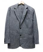 eleventy(イレブンティ)の古着「コットンリネン2Bジャケット」 ブルー