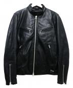JACKROSE(ジャックローズ)の古着「シープレザージャケット」 ブラック