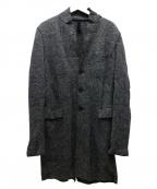 HARRIS WHARF LONDON(ハリスワーフロンドン)の古着「ヘリンボーンチェスターコート」|グレー
