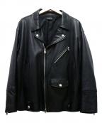 DIET BUTCHER SLIM SKIN(ダイエットブッチャースリムスキン)の古着「レザーライダースジャケット」|ブラック