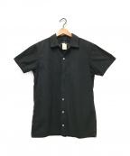 Y's(ワイズ)の古着「オープンカラーシャツ」 ブラック