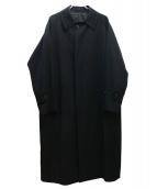 UNFIL(アンフィル)の古着「ウールギャバジンバルマカーンコート」|ブラック