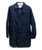 Traditional Weatherwear(トラディショナルウェザーウェア)の古着「ライナー付デニムステンカラーコート」|インディゴ