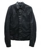 DRKSHDW(ダークシャドウ)の古着「加工デニムジャケット」 ブラック