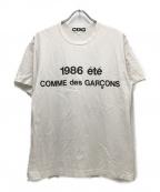 CDG(シーディージー)の古着「1986ロゴプリントT」 ホワイト