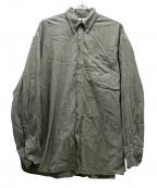 SEEALL(シーオール)の古着「オーバーサイズワークボタンダウンシャツ」 オリーブ