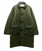 YSTRDYS TMRRW(イエスタディズトゥモロー)の古着「ナイロンポプリンハスラーパフコート」 グリーン