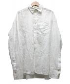 TODAYFUL(トゥデイフル)の古着「ジャガードコットンシャツ」 ホワイト