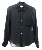 ROBE DE CHAMBRE COMME DES GARC(ローブドシャンブル コムデギャルソン)の古着「シアーシャツ」 ブラック
