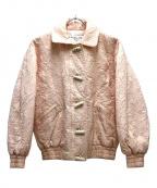 Christian Dior Sports(クリスチャン ディ オール スポーツ)の古着「スター刺繍ブルゾン」|ピンク