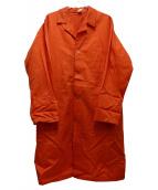 221VILLAGE(ニーニーイチヴィレッジ)の古着「カラーショップコート」 オレンジ