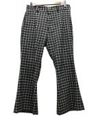 RANDY(ランディー)の古着「フレアパンツ」 ホワイト×ブラック