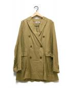 ()の古着「レーヨンダブルジャケット」|ベージュ