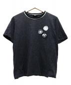 Saint Laurent Paris(サンローランパリ)の古着「マルチワッペンTシャツ」|グレー