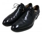foot the coacher(フットザコーチャー)の古着「プレーントゥシューズ」 ブラック