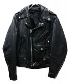 BRANDED GARMENTS(ブランデッドガーメンツ)の古着「ダブルライダースジャケット」|ブラック