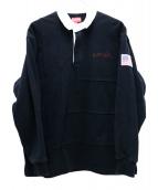 Supreme(シュプリーム)の古着「ラグビーシャツ」|ブラック