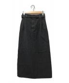 ()の古着「オールドウールロングスカート」 グレー