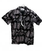 CHALLENGER(チャレンジャー)の古着「フェザーハワイアンシャツ」 ブラック