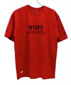 WTAPS(ダブルタップス)の古着「スタンダードプリントTシャツ」|レッド