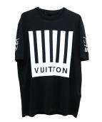 LOUIS VUITTON(ルイ ヴィトン)の古着「バーコードアンドアースニット」|ブラック×ホワイト