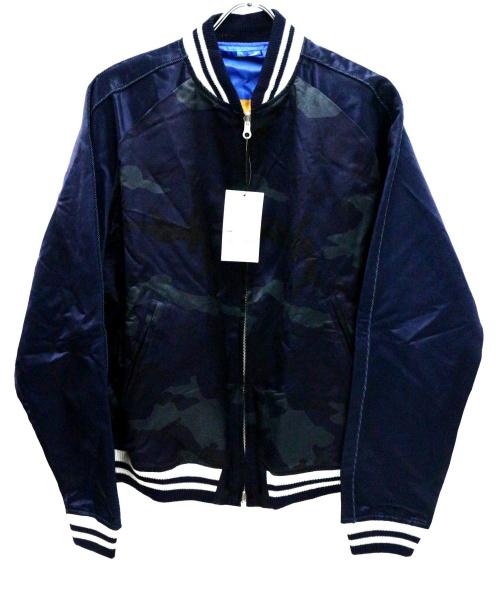 SOPHNET.(ソフネット)SOPHNET. (ソフネット) リバーシブルスーベニアジャケット ネイビー サイズ:L 未使用品の古着・服飾アイテム