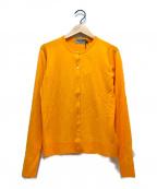 JOHN SMEDLEY(ジョンスメドレー)の古着「クルーネックカーデイガン」|オレンジ
