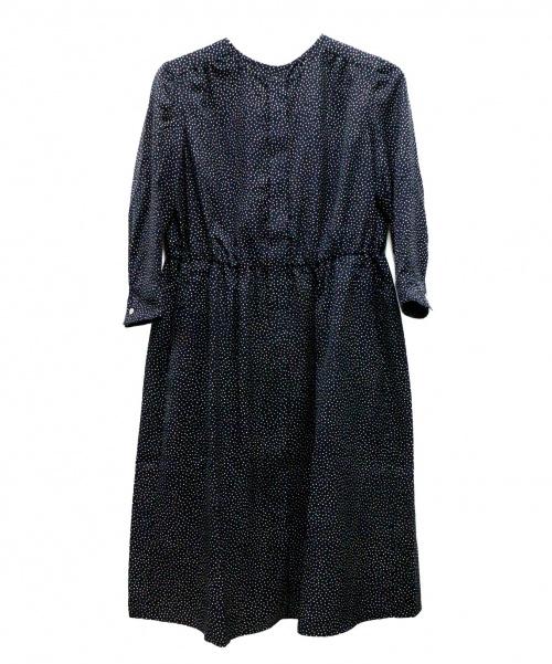 23区(ニジュウサンク)23区 (ニジュウサンク) ドットブラウスワンピース ブラック サイズ:34 未使用品の古着・服飾アイテム