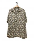 reyn spooner(レイン スプナー)の古着「総柄アロハシャツ」 ブラウン