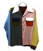 YOUNG & OLSEN The DRYGOODS STO(ヤングアンドオルセン ザ ドライグッズストア)の古着「オープンカラーシャツ」 マルチカラー
