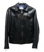 blackmeans(ブラックミーンズ)の古着「カウレザージャケット」|ブラック