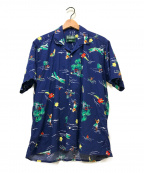 GITMAN BROS(ギットマンブラザーズ)の古着「オープンカラーシャツ」 ネイビー