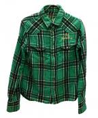 TMT(ティーエムティー)の古着「ダブルガーゼシャツ」|グリーン