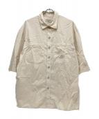 maison kitsune(メゾンキツネ)の古着「ポケットシャツ」|ライム