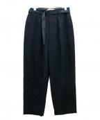 ETHOSENS(エトセンス)の古着「フランネルスラックス」|ブラック