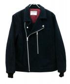 LUKER BY NEIGHBOR HOOD(ルーカーバイネイバーフッド)の古着「スエードライダースジャケット」|ネイビー