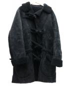 UNUSED(アンユーズド)の古着「ムートンダッフルコート」 ブラック