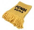 FENDI(フェンディ)の古着「ロゴ刺繍マフラー」|イエロー