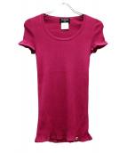 ()の古着「半袖ニット」|ピンク