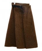 ELIN(エリン)の古着「Shaggy midi Skirt」|ブラウン