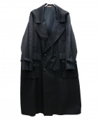 NEHERA(ネヘラ)の古着「モダンツイルトレンチコート」|ブラック