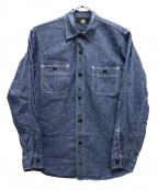 freewheelers(フリーホイーラーズ)の古着「シャンブレーワークシャツ」 ブルー