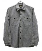 freewheelers(フリーホイーラーズ)の古着「シャンブレーワークシャツ」 グレー