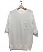 crepuscule(クレプスキュール)の古着「ポケットプルオーバーS/Sニット」|ホワイト