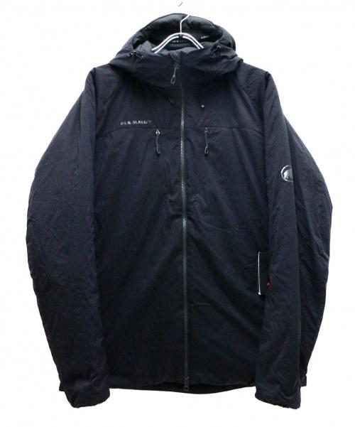 MAMMUT(マムート)MAMMUT (マムート) Rime IN Flex Hooded Jacket ブラック サイズ:XLの古着・服飾アイテム