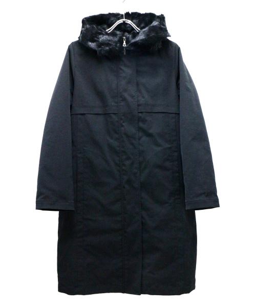 theory(セオリー)theory (セオリー) ムファーライナー付フーデッドコート ブラック サイズ:Sの古着・服飾アイテム