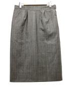 HERMES(エルメス)の古着「ウールチェックタイトスカート」|ブラウン